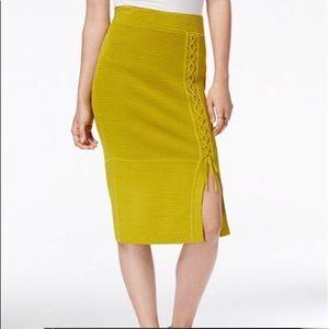 Rachel Roy Olive Green Knit Skirt